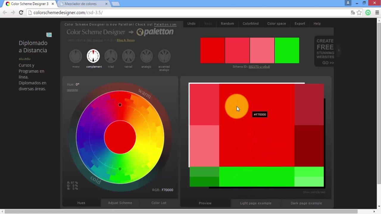 Software Para Combinar Colores Youtube - Colores-combinacion