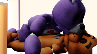 - MMD x FNAFBonnie kissing freddy when he sleep Fronnie
