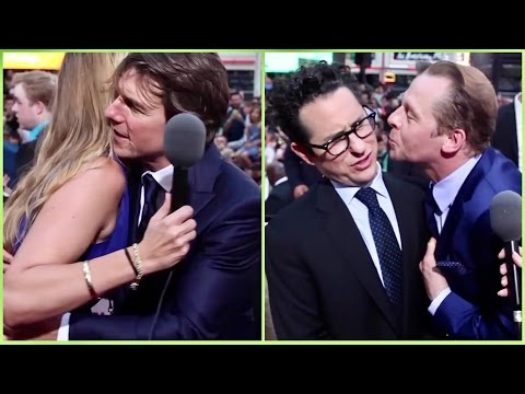 Tom Cruise gives the best hugs and Simon Pegg kisses JJ Abrams