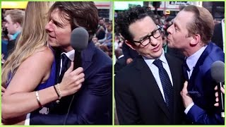 Tom Cruise On Pain & Gain (His Fit Body) - And Simon Pegg kisses JJ Abrams (MISSION Impossible)