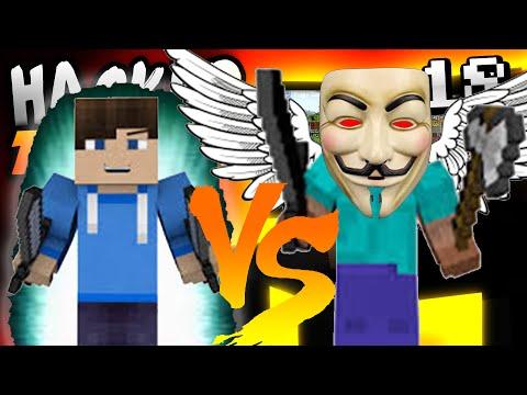 Minecraft HACKER TROLLING - KILL AURA HACK VS FLY HACK!! - Ep. 18 ( Minecraft 1.8 Hacks )