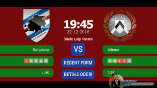 Sampdoria vs Udinese PREDICTION (by 007Soccerpicks.com)