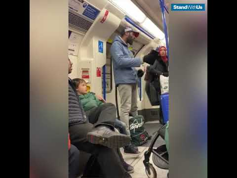 Antisemitic abuse on the London subway