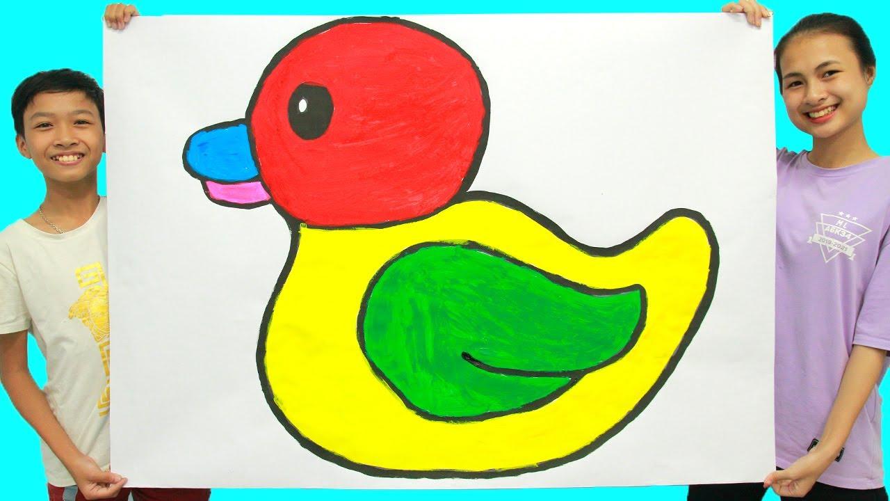 Belajar Menggambar Dan Mewarnai Bebek Sederhana Untuk Anak ...