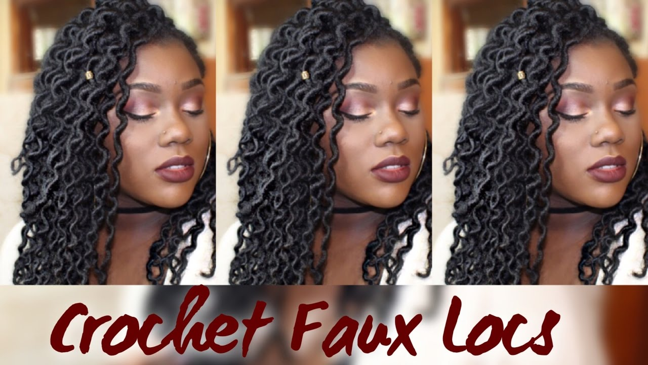 Easy Crochet Faux Curly Locs Less Than 2 Hours Youtube