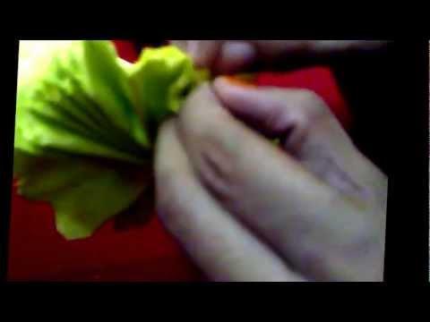video penuh tutorial bunga telur kertas tisu