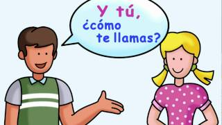 What is your name? - ¿Cómo te llamas? by Calico Spanish