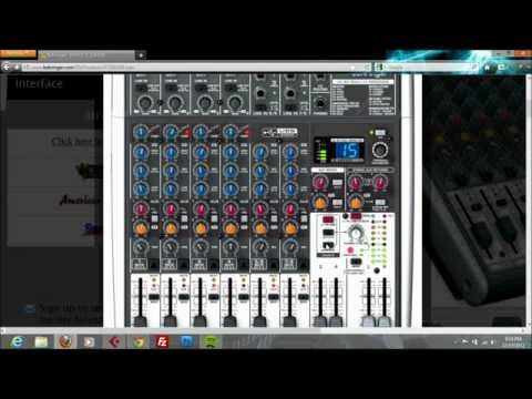 Recording using Behringer Xenyx X1204USB on Cubase