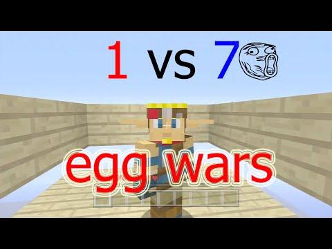 Reto 1 VS 7 Egg Wars Minecraft PS3 - FLIPAA!