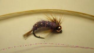 Как связать мушку УРОК 7 ( как правильно закрепить люрекс и перо на цивье + пример мухи нимфы)