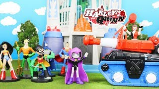 TEEN TITANS GO! And Justice League Transformed by Harley Quinn Into Hero World by Funko Exclusives