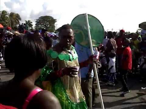 Police getting some action-Mashramani 2012 in Guyana