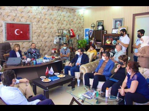 السيدة فاطمة شاهين تقوم بزيارة Arif KURT رئيس رابطة الصحفيين الأتراك في غازي عنتاب