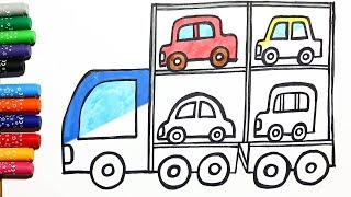 Draw and colored Auto Transporter with Moomy Draws.