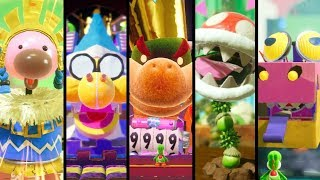 Yoshi's Crafted World - All Boss Challenges (2 Player)