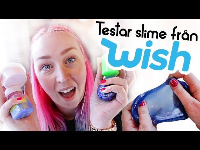 Testar slime köpt på Wish?
