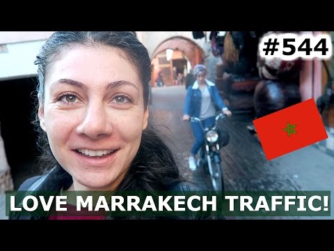 MOROCCO MARRAKECH CRAZY TRAFFIC DAY 544 | TRAVEL VLOG IV
