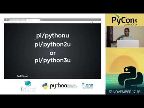 A Non-coder's Journey with Python and Postgresql (Rhys Stewart)
