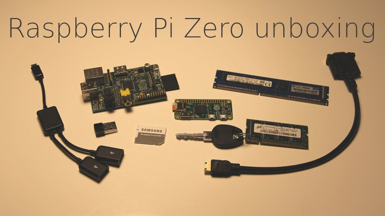 New Raspberry Pi Zero Unboxing, the $5 Computer, super small form ...