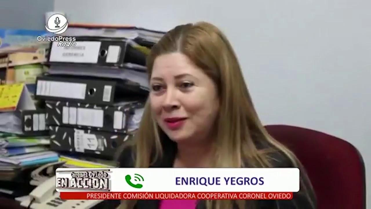 Coronel Enriqu: Enrique Yegros Presidente Comisión Liquidadora Cooperativa