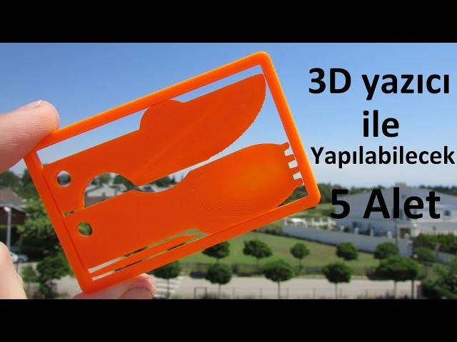 3D Yaz?c? ile Yap?labilecek 5 Harika Alet !