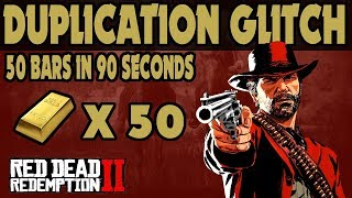 Red Dead Redemption 2 : 50 Gold Bars In 90 Seconds Duplication Glitch (Maybe Even 90 Bars)