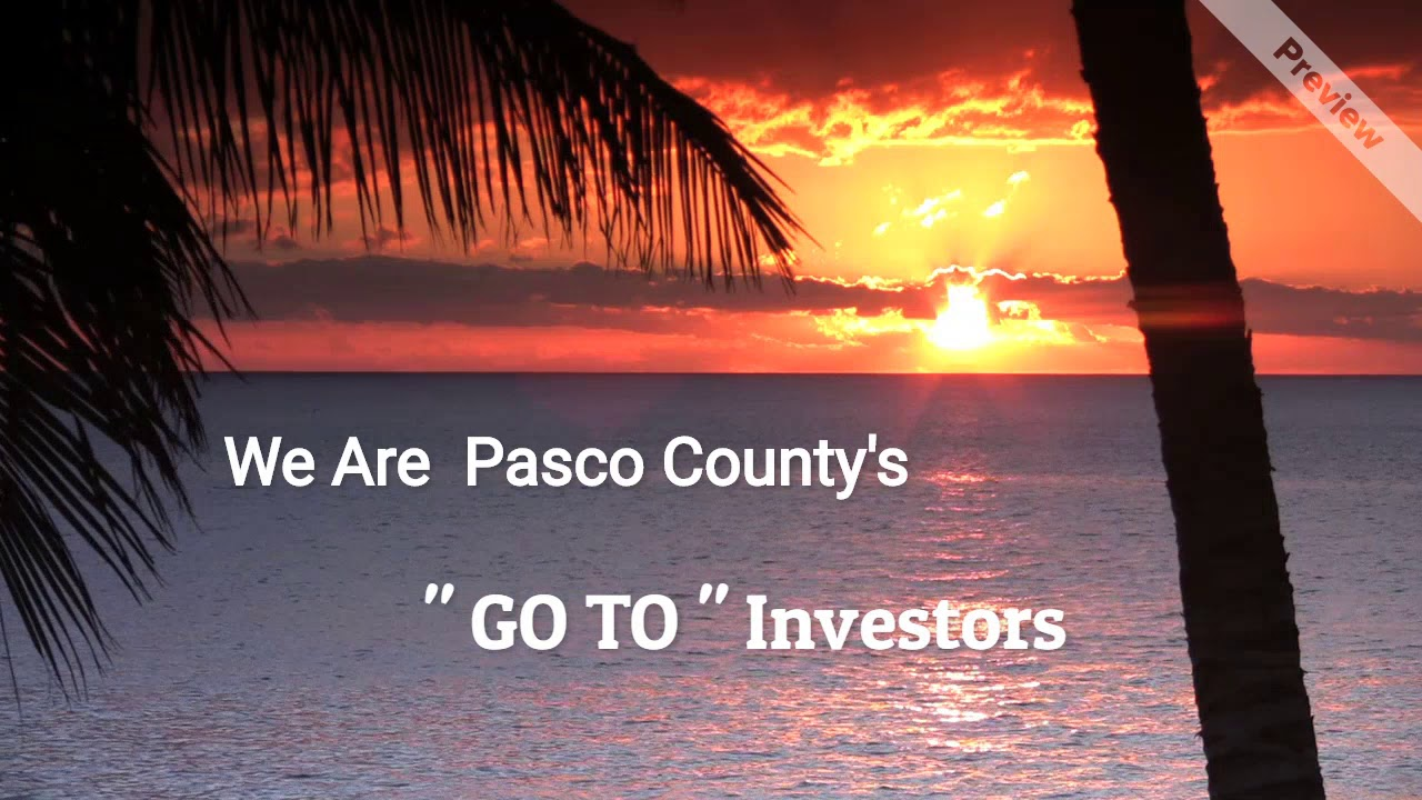 Pasco County Florida Property Investment Buyers. - YouTube | title | sunrise of pasco county florida