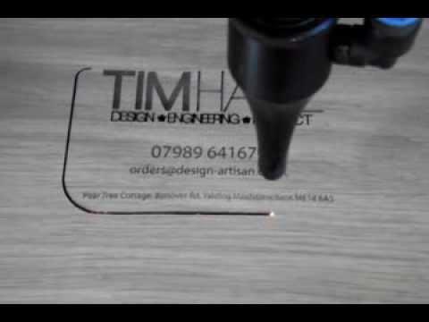 Lasercut business cards youtube colourmoves