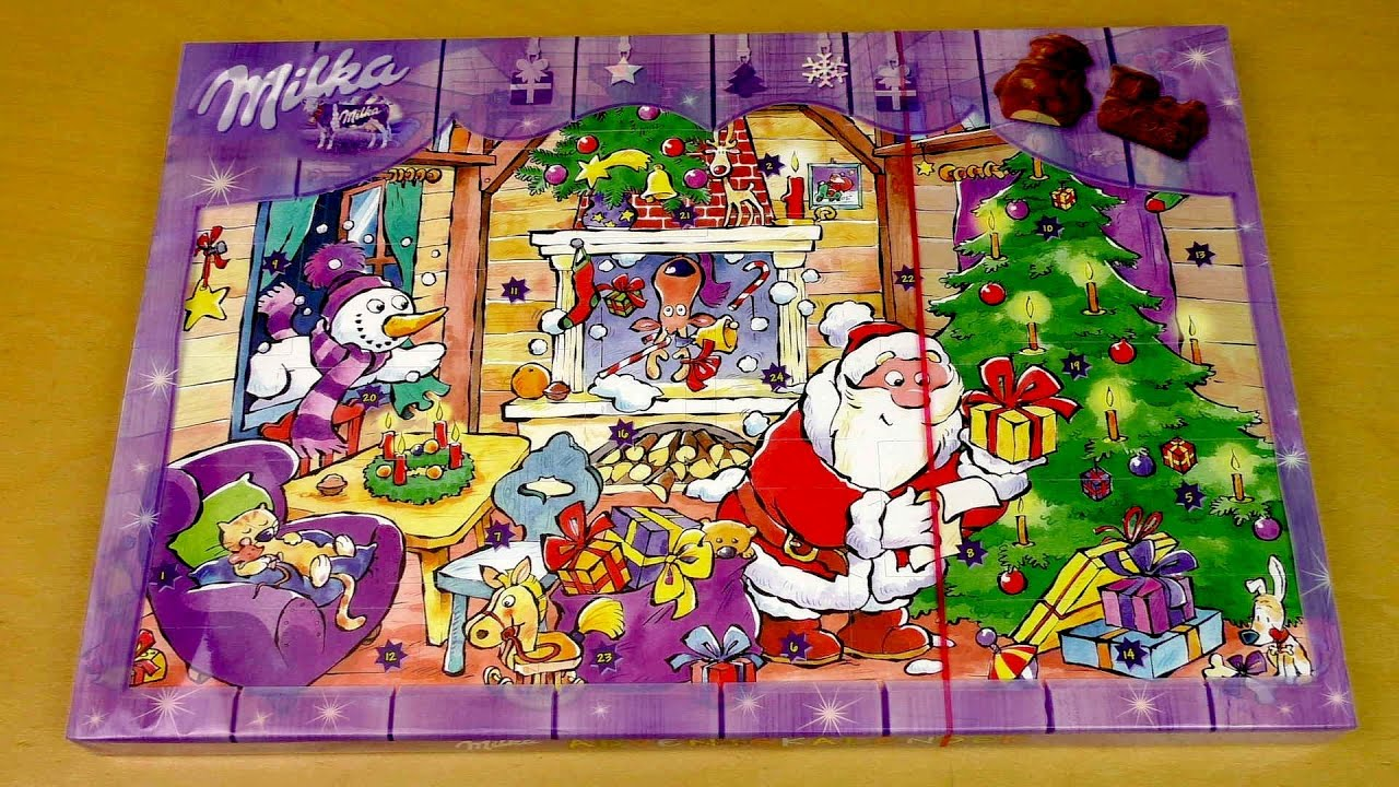 Milka Chocolate Advent Calendar - YouTube