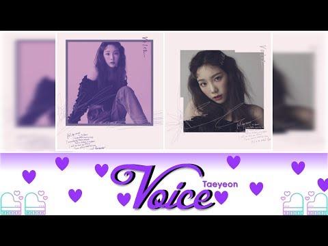 TAEYEON (태연) - Voice Lyrics Color Coded (Jpn/Rom/Eng) Easy Lyrics