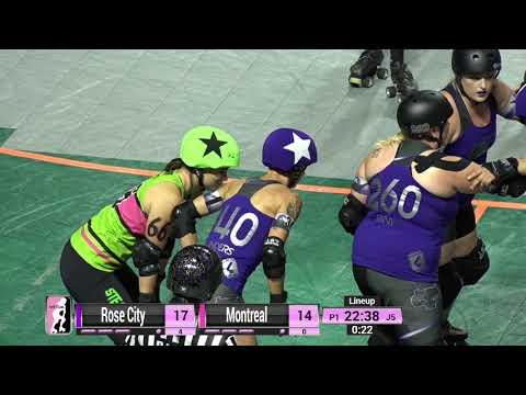 WFTDA Roller Derby - Division 1, Seattle - Game 12  - Montréal vs. Rose City