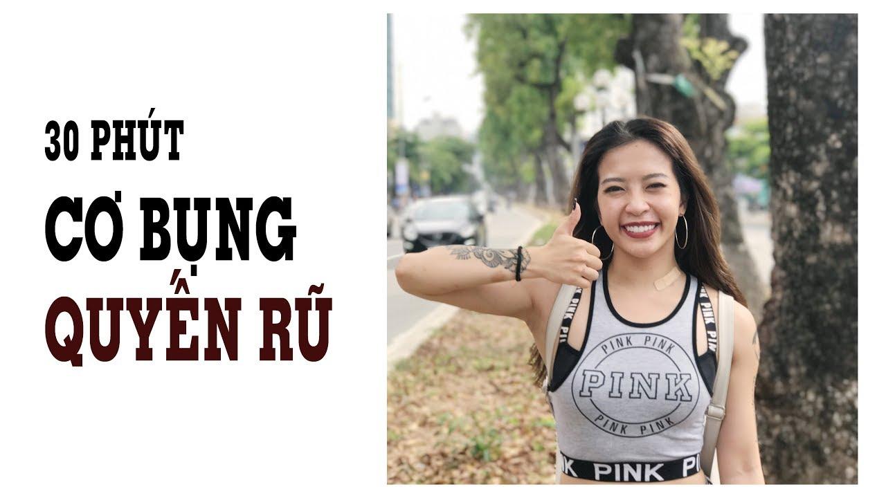 30 phút đốt mỡ bụng (Advanced) | Hana Giang Anh | Workout #65
