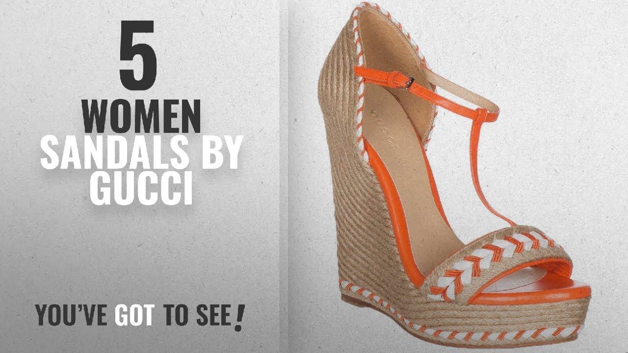 d7d0a554def Top 5 Gucci Women Sandals  2018   Gucci Women s Neon Orange Leather ...
