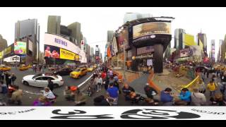 USA Newyork Streets and Times Square 360 VR Video Panorama