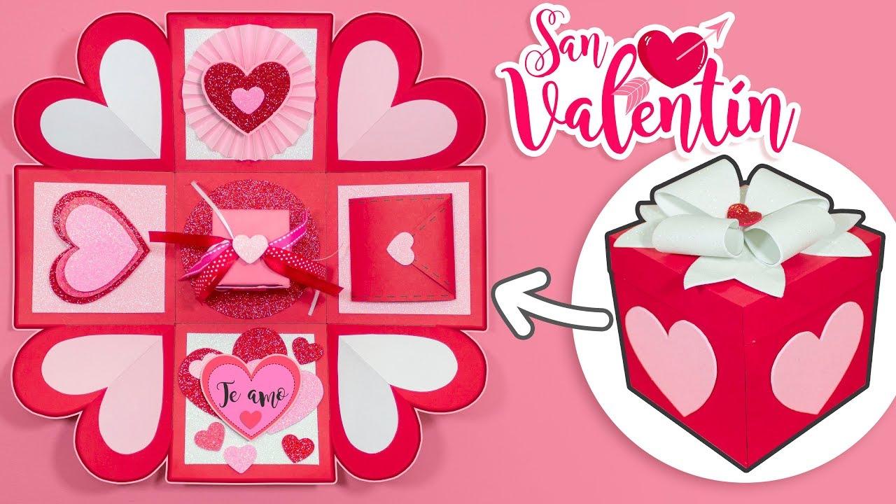 Diy Cajita Explosiva Del Amor San Valentín Youtube