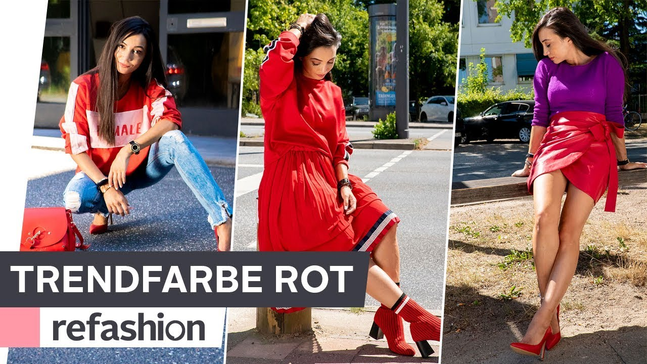 HOW TO STYLE: Trendfarbe Rot ~ refashion | OTTO