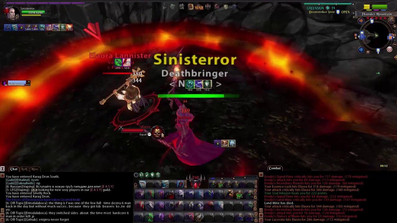 Warhammer online dps dok 100rr youtube.