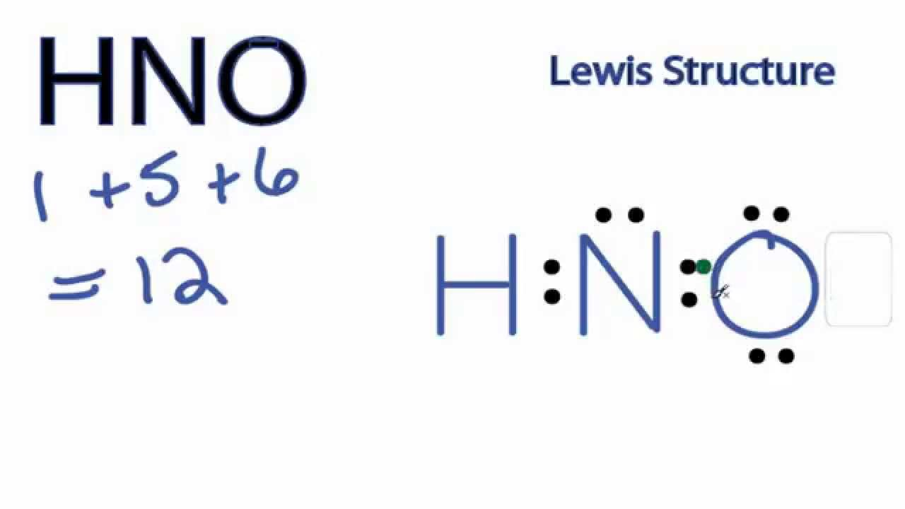 HNO Lewis Structure - YouTube