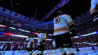 NBC. Jim Cornelison sings Star Bangled Banner. 6/12/13 Boston Bruins vs Chicago Blackhawks NHL