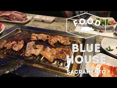 All You Can Eat at Blue House Korean Restaurant in Sacramento, California | FOOD VLOG