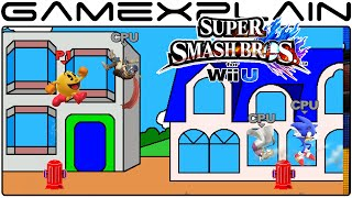 Smash Bros Wii U: Pac-Land Stage (1080p 60fps Gameplay)