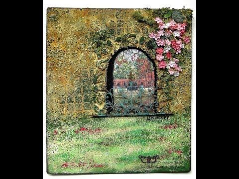 "Mixed media collage ""Secret Garden"" for Prima Art Recipe"