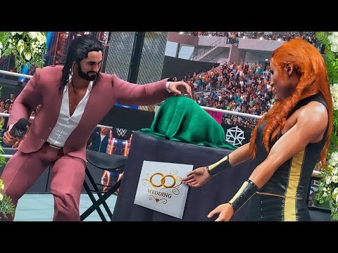 SETH ROLLINS & BECKY LYNCH UNVEIL MARRIAGE TITLE BELT! | WWE 2K19 Universe Mods