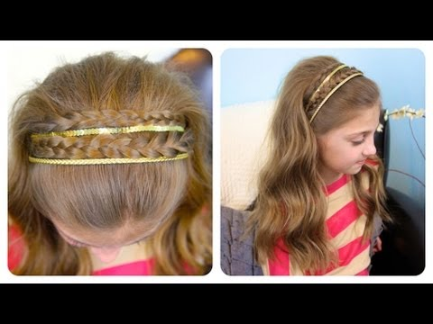 Double Braid Sparkly Headband