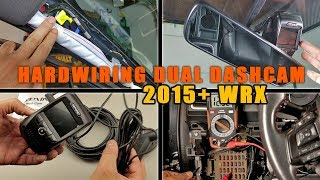 How to Install (Hardwire) Dual Dash Cam in WRX: Rexing V1P 3rd Gen