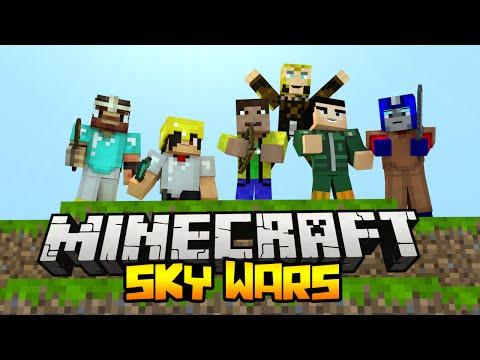БИТВА НА 100 ЧЕЛОВЕК - Minecraft Скай Варс (Mini-Game)
