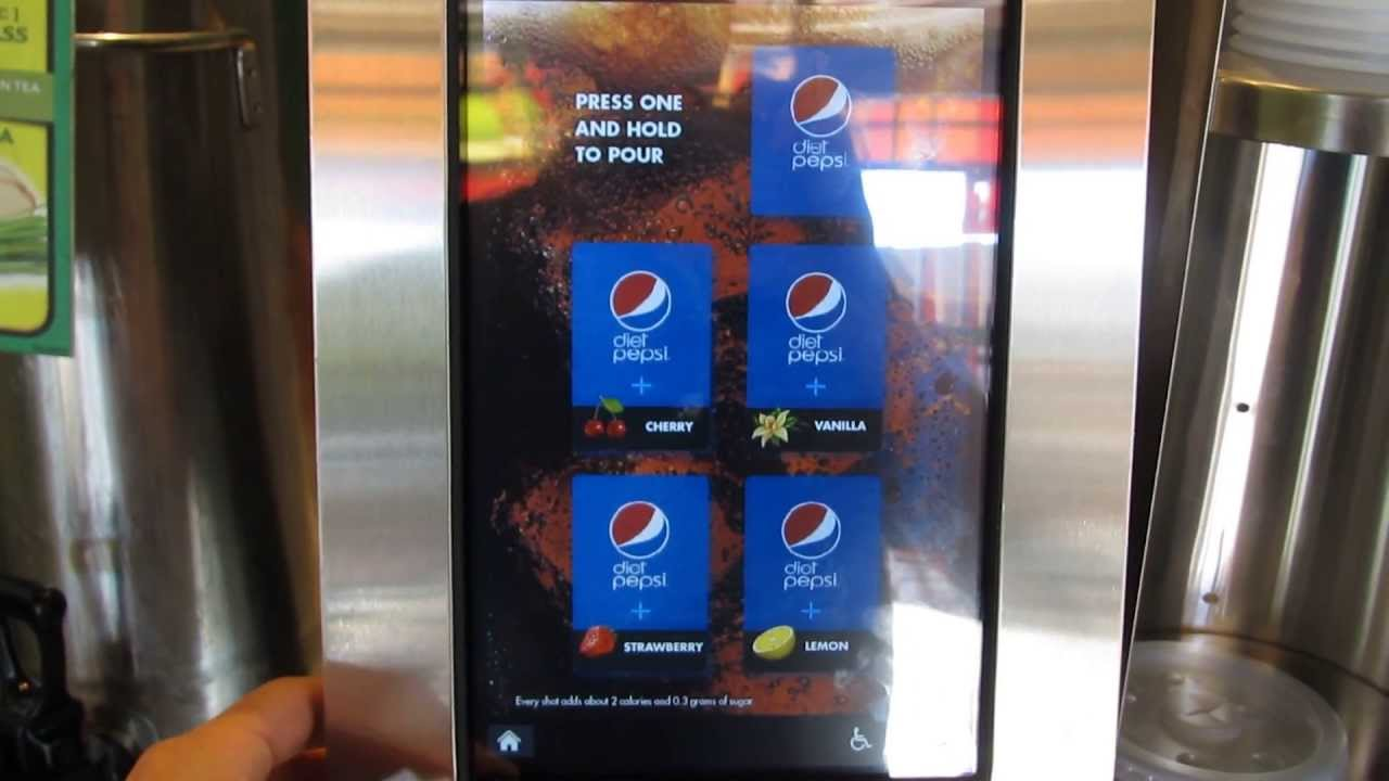pepsi touch screen machine