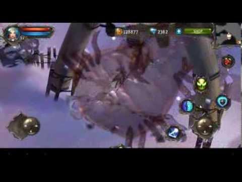 Dungeon Hunter 4 - Ustrak The Devourer - Boss Gameplay - Warmage(v.1.6.0m Below)