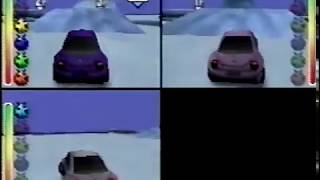 Beetle Adventure Racing Multiplayer (N64) - Castle and Ice Flows