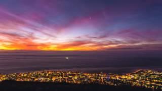 Niebla encima de Ciudad del Cabo